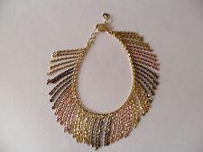 Oxi Colore Argento Gold-Plated Tre Colori Frangia Bracciale