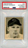 1948 Bowman Herman Wehmeier #46. PSA Authentic