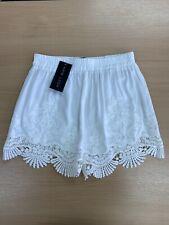 NEW Look weiß Stickerei broderie Callie Lace Shorts S (6/8) Boho Urlaub