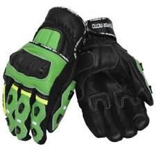 Gants de course, sport à doigts en cuir pour motocyclette