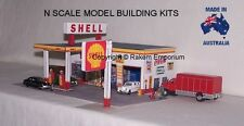 N Scale Shell Garage Petrol Station Model Railway Building Kit - NSPS1