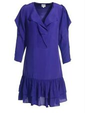 Reiss Purple Sleeved Tea Dress Blue 8 Party Designer Summer Holiday Wedding £159