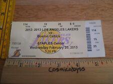 Los Angeles Lakers vs Boston Celtics 2013 Kobe Bryant basketball game ticket