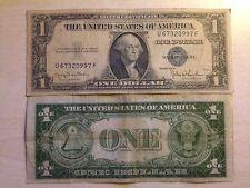 STATI UNITI USA 1 DOLLARO ONE DOLLAR $ SERIES 1935 D SIGILLO BLU MOLTO RARA