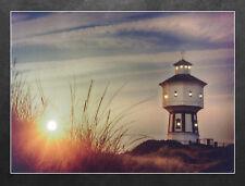 LED Wandbild Wasserturm auf Langeoog Leuchtbild 40x30 cm (B-Ware)