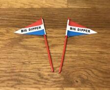 2 Fanions pour Circuit Big Dipper TECHNOFIX Montagne Russe 316