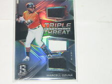 2017 Panini Spectra Triple Threat Jersey Marcell Ozuna #/149