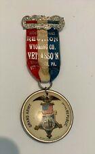 New listing Gar Badge w/Ribbon - Meshoppen, Pa - 1895 20th Reunion - Wyoming Co. Vets Assoc