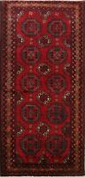 Traditional Tribal Hand-knotted Wool Area Rug Geometric Oriental Carpet 3x7 RED