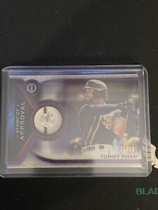 2021 Topps Tribute Tommy Pham Stamp Of Approval Relic Pinstripe #35/50 Padres