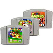 3 N64 - Nintendo 64 Mario Game Super Mario + Mario Kart 64 + Mario Tennis