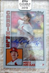 2019 Topps Clearly Authentic #TBA-MM 1984 Design Miles Mikolas Autograph