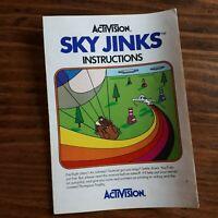 Sky Jinks Manual ( Atari 2600 ) - ( Booklet - Insert - Instructions )