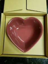 Longaberger Woven Traditions Paprika heart-shaped bowl dish excellent condition!