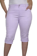 Coloured High Regular Capri, Cropped Jeans for Women