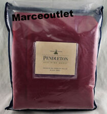 Pendleton Eco Wise Washable Wool KING Bed Blanket Solid Red