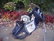 Titleist Royal Blue Lightweight Nylon Dual Strap Stand Golf Bag w Rain Hood