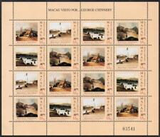 MACAO MNH 1994 SG830-33 Views of Macau - The Birth of George Chinnery Sheet