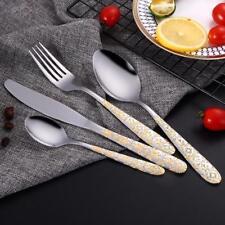 Stainless Steel Gold Plated Cutlery Set Dinnerware Tableware Silverware Dinner