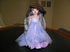"Vintage 16"" Brunette Terri Lee in Ballgown & Fur Coat"