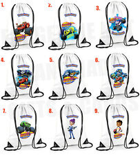 Blaze and The Monster Machines Personalised Drawstring Bag PE School 9 designs