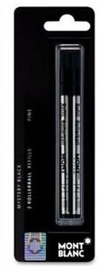 1 Pack, Genuine MontBlanc Rollerball Refill, Black Fine, Sealed Mont Blanc Pack