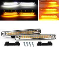 2PCS White / Sequence Amber LED Strip Light Waterproof Daytime Running Lamp