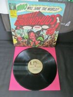 MIGHTY GROUNDHOGS ~WHO WILL SAVE THE WORLD? ~1972 UK 1ST RARE COMIC Gatefold