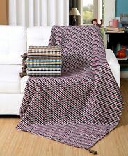 Jacquard Chenille Geometric Design Sofa / Bed Throw Blanket or Cushions