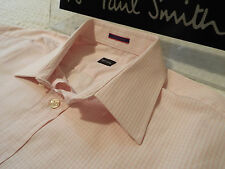 "PAUL SMITH Mens Shirt 🌍 Size 16"" (CHEST 44"") 🌏 RRP £95+ 🌏 PALE GINGHAM CHECKS"