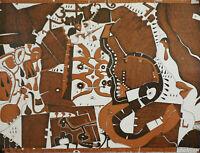 Horst Janssen (1929 - 1995)- Über die Traurigkeit - Zinkätzung - Signiert - 1969