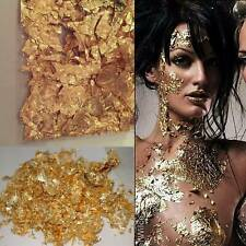 Gold Flake Leaf Festival Chunky Cosmetic Glitter Face Body Makeup Gem Holo Beach