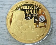 "2019 Proof-Project Apollo-First Man On The Moon-1961-1972-3"" Commemorative Coin"
