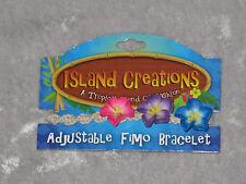 Island Creations Adjustable Fimo Fashion Bracelet Colorful Flowers NEW!