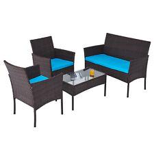 4 Stk Loungemöbel Gartenset Set Möbel Gartenmöbel mit Bank Stühlen Tisch Sofa