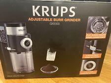 New KRUPS Professional Burr Black Coffee Grinder GX500050