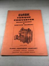 Clark C-270 Series Torque Converter Maintenance & Service Manual