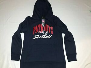 NFL Pro Line Fanatics New England Patriots Navy Hoodie Sweatshirt Size M Girls