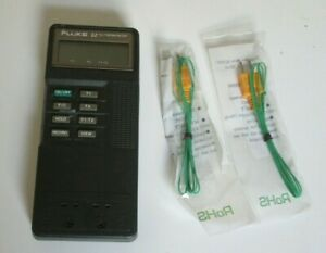 Fluke 52 K/J Digital Thermometer Calibrated plus new thermocouples