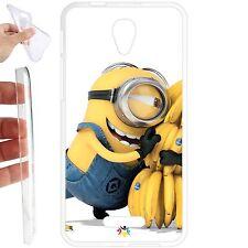 Custodia cover TPU Gel per Alcatel One Touch Pop 4 Plus 5,5 - 065 minion banana