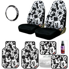 NEW MICKEY MOUSE CAR SEAT COVERS PLUS FLOOR MATS AND ACCESORIES SET FOR FORD