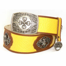 Silver Belt Buckle with Yellow color for Deel