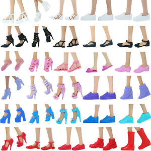 4 / 5x Mix High Heel Flat Sandals Boot Accessories Shoes for 11.5 Inch Doll