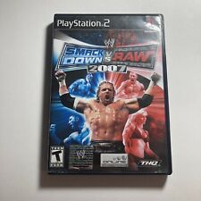 Playstation 2 PS2 WWE SmackDown vs. Raw 2007 Wrestling Game No Manual Tested