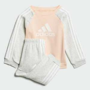 adidas girls grey/ peach infant / baby crew tracksuit. Various sizes!