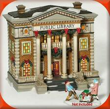 Deparment 56 Christmas In The City - Hudson Public Library 58942 Retired - Euc