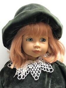 "26"" Gotz Limited Vinyl Doll ""Fabienne"" Beautiful Redhead In Green Velvet W/ Box"