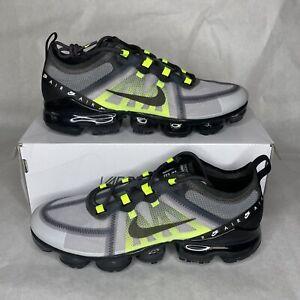Mens Sz 9.5-13 Nike Air VaporMax 2019 LX Atmosphere Grey Black Volt (BV1712-001)