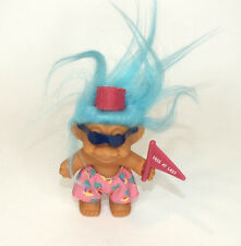 "Troll Doll Russ Free At Last Graduation Flag Blue Hair 4"" Vinyl Figure Shorts"