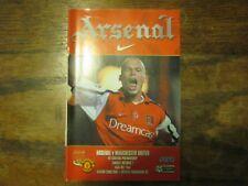 Arsenal v Manchester United- FA PL - Season 2000 - 2001 (VGC)